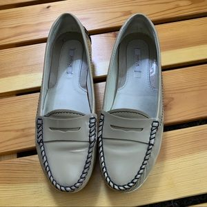 2/$30  Geox patent leather loafers